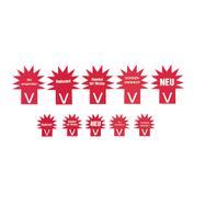 Καρτολίνα σε Σχήμα Αστεριού - Φθορίζον Κόκκινο