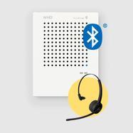 """Διαχωριστικό Προστασίας""""VoiceBridge"""" - με Bluetooth-Headset"""
