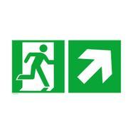 Πινακίδα Διάσωσης - Έξόδος Κινδύνου Δεξιά Πάνω