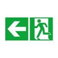 Πινακίδα Διάσωσης - Έξόδος Κινδύνου Αριστερά