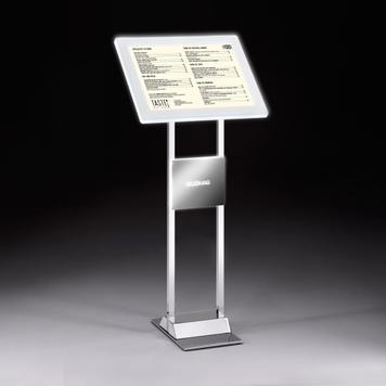 Μαγνητικό Πλαίσιο LED Συστήματος Πληροφοριών από Επιχρωμιωμένο Ατσάλι (συμπερ. LED Μαγνητικό Πλαίσιο)