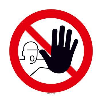 Πινακίδα Απαγόρευσης μη Εξουσιοδοτημένης Πρόσβασης - Στρογγυλή