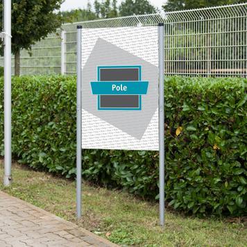 """Πλαίσιο Banner, Ατσάλινου Συστήματος Slot""""Pole"""""""