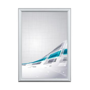 Αφισοθήκη - Snap Frame με 15 χιλ. Προφίλ και Μυτερές Άκρες - Ασημί Ανοδιωμένο