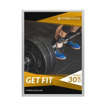 Snap Frame, Προφίλ 25 χιλ., Ασημί Ανοδίωσης, Μυτερές  / Στρογγυλές Γωνίες