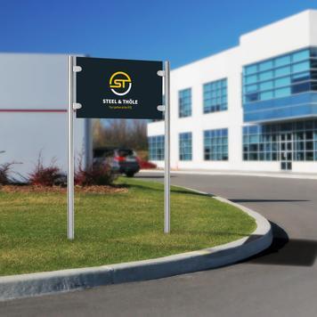 """Πινακίδα Εταιρείας """"Straight-Line Entrance"""""""