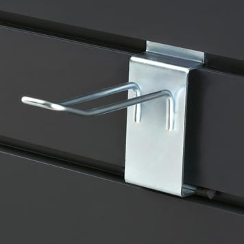 Διπλό Άγκιστρο με Ασφάλεια για Slatwall