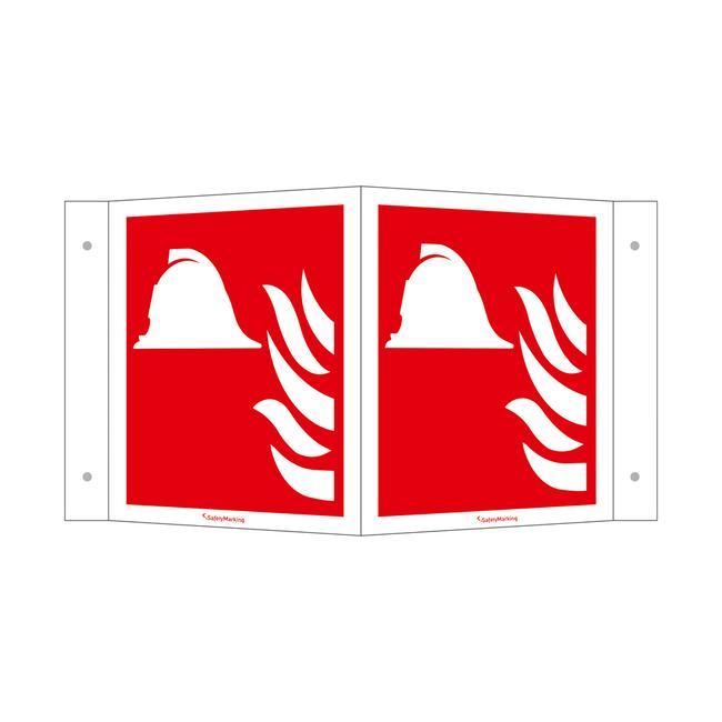 Γωνιακή Πινακίδα Πυροπροστασίας και Πυρόσβεσης