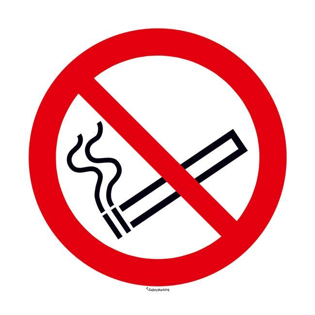 Πινακίδα Απαγόρευσης Καπνίσματος - Στρογγυλή