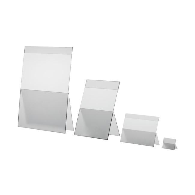 Επιτραπέζιο Σταντ από Άκαμπτο PVC - Οριζόντια Διάταξη