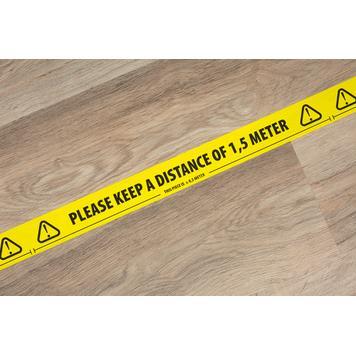 """Ταινία Σήμανσης Δαπέδου """"Please keep a distance of 1,5 meters!"""""""