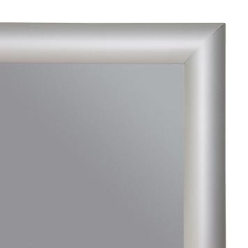 Snap Frame με Πυρίμαχο Κάλυμμα, 32 χιλ. Προφίλ, με Μυτερές Άκρες - Ασημί Ανοδιωμένο