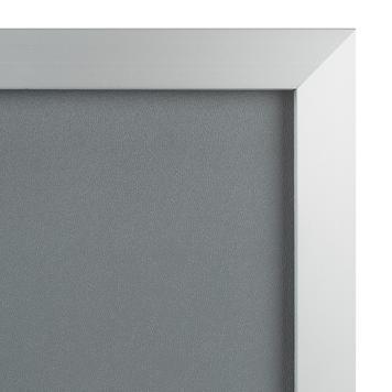 """Αφισοθήκη - Snap Frame """"Straight"""", Προφίλ 32 χιλ. Ασημί Ανοδιωμένο, με Μυτερές Άκρες"""
