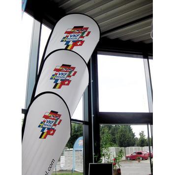Beach Flag με Σχοινί Στερέωσης