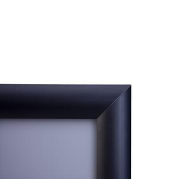 Αφισοθήκη με Προφίλ 25 χιλ. Μαύρο Ανοδιωμένο, Μυτερές Άκρες