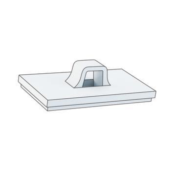 Λευκό Αυτοκόλλητο Άγκιστρο για Βίδες Στερέωσης